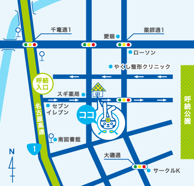 すずき-K耳鼻咽喉科 地図